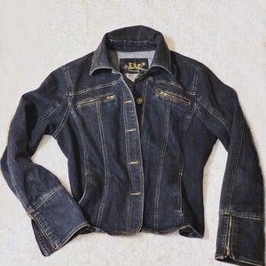 LAL (Live A Little) Slim Cut Denim Jacket Size M